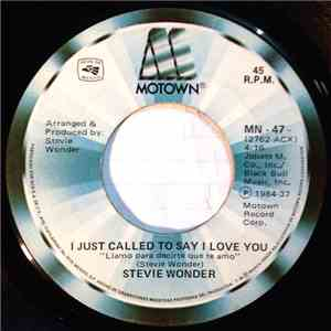 Stevie Wonder - I Just Called To Say I Love You flac album