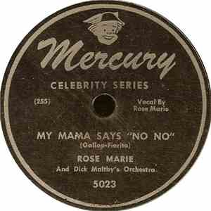 "Rose Marie - My Mama Says ""No No"" / Chen' A' Luna (There's A Moon) flac album"