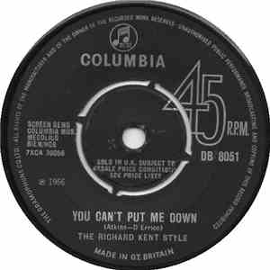 The Richard Kent Style - You Can't Put Me Down / All Good Things flac album