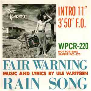 Fair Warning  - Rain Song flac album