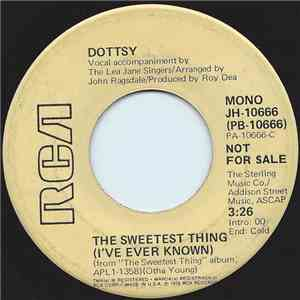 Dottsy - The Sweetest Thing (I've Ever Known) flac album
