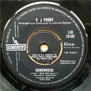 P. J Proby - Somewhere flac album