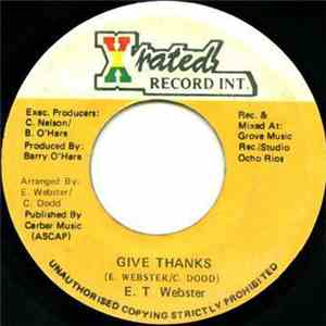 E. T. Webster - Give Thanks flac album