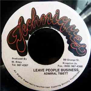 Admiral Tibet - Leave People Business flac album